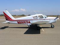 N6693W @ O15 - 1965 Piper PA-28-140 @ Turlock Municipal Airport, CA - by Steve Nation