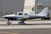 N141AM @ SMO - 2002 Lancair Company LC-40-550FG (Columbia 300) - N141AM - rolling out on RWY 21 after landing.