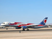 N905AW @ KLAS - America West Airlines - 'Ohio' / Boeing 757-2S7 / Cool...something different!