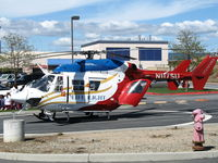 N117SU @ CL99 - Stanford University LIFE FLIGHT MBB BK 117C-1 in late afternoon sun @ Watsonville (CA) Community Hospital Heliport - by Steve Nation