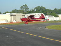 UNKNOWN @ X14 - unknown tailnumber at LaBelle Municipal Aiport - 1st plane to land on new extended runway - by Don Browne