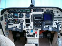 N2168J @ 4I3 - The panel of N2168J with Moritz fuel gauges, full Bendex/King moving-map GPS, and other radio equipment - by Alex Melia