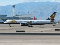 N520AT @ KLAS - America Trans Air - ATA / 2004 Boeing 737-7H4 - Departing RWY 25R
