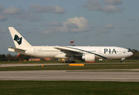 AP-BGK @ EGCC - PIA's B.777 taxi-ing to the gate after landing on 06R. - by Kevin Murphy
