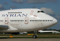 YK-AHB @ EGCC - Up close on a Syrian 747SP. - by Kevin Murphy