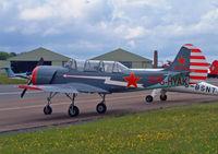 G-HYAK @ EGBP - IDA Bacau Yakovlev Yak-52 - by Les Rickman