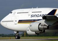 9V-SMJ @ EGCC - Singapore's big boy waiting at the threshold. - by Kevin Murphy