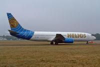 5B-DBH @ BOH - Boeing 737 86N - by Les Rickman