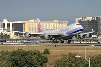 B-18703 @ LAX - China Airlines Cargo B-18703 seconds from touchdown on RWY 24R. - by Dean Heald