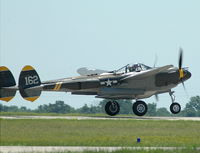 N138AM @ COU - P-38, 23 Skidoo on take off - by Don Thun