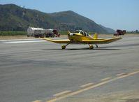 N9293 @ SZP - 1974 Ries Jodel F-12, Franklin 4B1 130 Hp, taxi after landing Runway 22 - by Doug Robertson