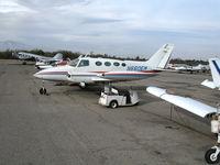 N660EM @ AJO - 1966 Cessna 411 (no prop blades) @ Corona Municipal Airport, CA