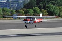 N1119Y @ SMO - 1962 Cessna 150B N1119Y landing on RWY 21 at Santa Monica Municipal Airport (KSMO) - Santa Monica, California. - by Dean Heald