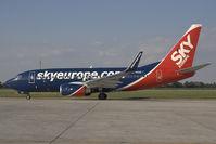 OM-NGE @ BTS - Boeing 737-700 of Sky Europe