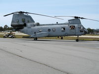 153380 @ WVI - CH-46F YP-06 of HMM-163 with missle warning system boxes @ Watsonville Municipal Airport, CA - by Steve Nation