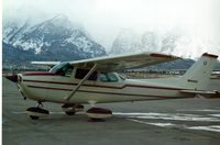 N64413 @ JAC - Dual Cross Country - Snowed in at Jackson Hole - by Jeff Propps