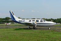 N122JP @ 47N - The Aerostar has an unmistakable profile, as seen here at Centeral Jersey Regional. - by Daniel L. Berek