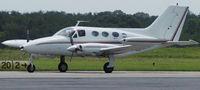 N1234W @ DAN - 1970 Cessna 414 in Danville Va. - by Richard T Davis