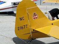 N21677 @ WVI - 1938 Piper J3C-65 Cub as NC21677 @ fly-in Watsonville, CA - by Steve Nation