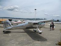 N72173 @ WVI - 1946 Cessna 120 as NC72173@ fly-in Watsonville, CA