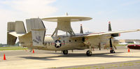 165818 @ FRG - E-2C from VAW-120 visits Republic with the S-3.