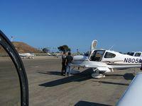 N805MX @ SBA - Brad Pitt preparing to fly Angelina's plane - by Carlos