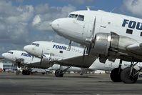 N133FS @ SJU - Four Star Cargo DC3 line up