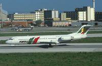 CS-TPA @ LIS - Portugalia Fokker 100 landing at LIS