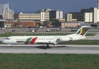 CS-TPB @ LIS - Portugalia Fokker 100 landing at LIS