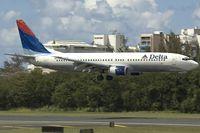 N3763D @ SJU - Delta Airlines Boeing 737-800 - by Yakfreak - VAP