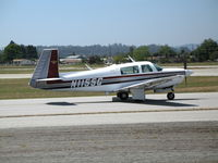 N1155G @ WVI - 1981 Mooney M20J taxying @ Watsonville Municipal Airport, CA - by Steve Nation
