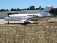 N601RC @ MRY - Rockwell Collins 1986 Canadair CL-600-2A12 @ Monterey-Peninsula Airport, CA - by Steve Nation