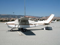 N9722X @ E16 - 1962 Cessna 210B with cover @ South County Airport (San Martin), CA