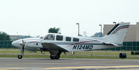 N124MD @ FRG - Baron ready to go RWY 19... - by Stephen Amiaga