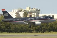 N741UW @ SJU - US Airways Airbus A319
