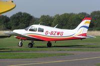 G-BZWG @ EGLG - Piper PA-28-140 Cherokee at Panshanger airfield - by Simon Palmer