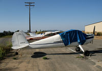 N3523V @ L18 - 1948 Cessna 140 with cover & no wings @ Fallbrook Community Airpark Airport (!), CA
