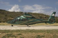 N155WH @ SBH - nice painted helicopter
