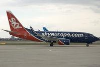 OM-NGA @ BTS - Sky Europe Boeing 737-700WL