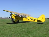 G-BBUU @ EGBT - Piper Cub visiting the Turweston fly-in - by Simon Palmer