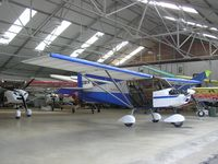 G-CBIV @ EGBK - SkyRanger in front of a crowded hangar at Sywell - by Simon Palmer