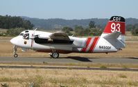 N450DF @ STS - Pilot Walt Darren taxis CDF S-2T Tanker #93 (Chico, CA-based) for take-off at Charles M. Shulz Airport, Santa Rosa, CA and retardent drop on Yountville Fire - by Steve Nation