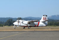 N426DF @ STS - Grass Valley-based CDF S-2T Tanker #88 with Bob Finer at the controls taxys out for take-off with load of retardent at Sonoma County Airport, CA - by Steve Nation