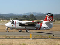 N438DF @ STS - Santa Rosa-based CDF S-2T Tanker #85 with relief pilot Bill Buckley at the controls taxying out for take-off at Sonoma County Airport, CA for firefighting mission - by Steve Nation