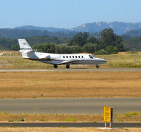 N525RD @ STS - Phillips Plastic 1991 Cessna 560 rolling @ Sonoma County Airport (Santa Rosa), CA