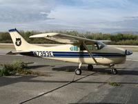 N7393E @ AJO - 1960 Cessna 210 with Bear TL and CAL-Berkeley @ Corona Municipal Airport, CA