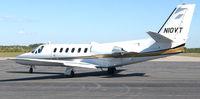 N10VT @ DAN - 1982 Cessna 550 with Va. Governor Kaine aboard in Danville Va. A Virginia Tech jet. - by Richard T Davis