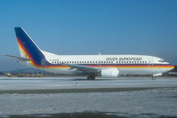 G-BNGM @ SZG - Inter European Boeing 737-300 in basic TACA colors