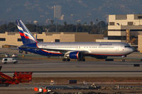 VP-BWQ @ LAX - Aeroflot Russian Airlines VP-BWQ (FLT AFL321) from Moscow taxxing to the TBIT after arrival on the north complex.
