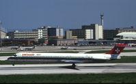 HB-INY @ LIS - Swissair MD80